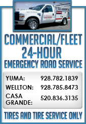 Commercial and Fleet Services Available at Ed Whitehead's Tire Pros, serving in Yuma, Wellton and Casa Grande Arizona areas, is the tire and auto repair service center for all your needs. Quality tires and service for over 10 years.