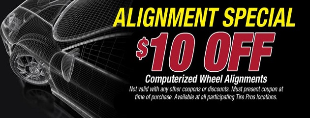 Alignment Special. $10.00 OFF!