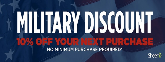 10% Discount for ALL Military Personnel and First Repsonders
